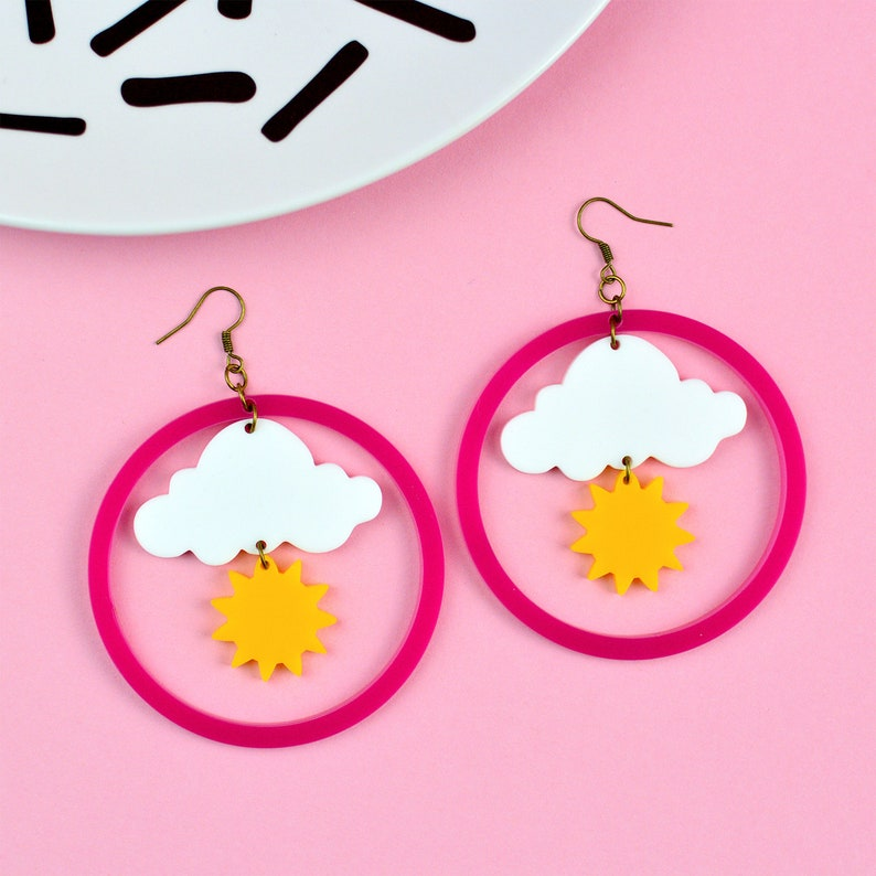 Sunshine Cloud Weather Statement Earrings image 0