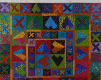 Hearts and Love!  Modern Quilt Heart Pattern FREE SHIPPING