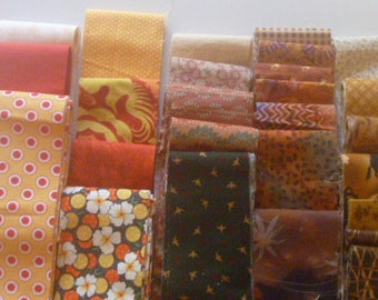 Pre Cut Jelly Roll Mixed Fabric Strips in Warm Colors Variety Package 16 oz FREE SHIPPING