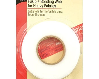 "Fusible Bonding Tape for Heavy Fabrics Iron On Adhesive 13 yd x 5/8"" FREE SHIPPING"