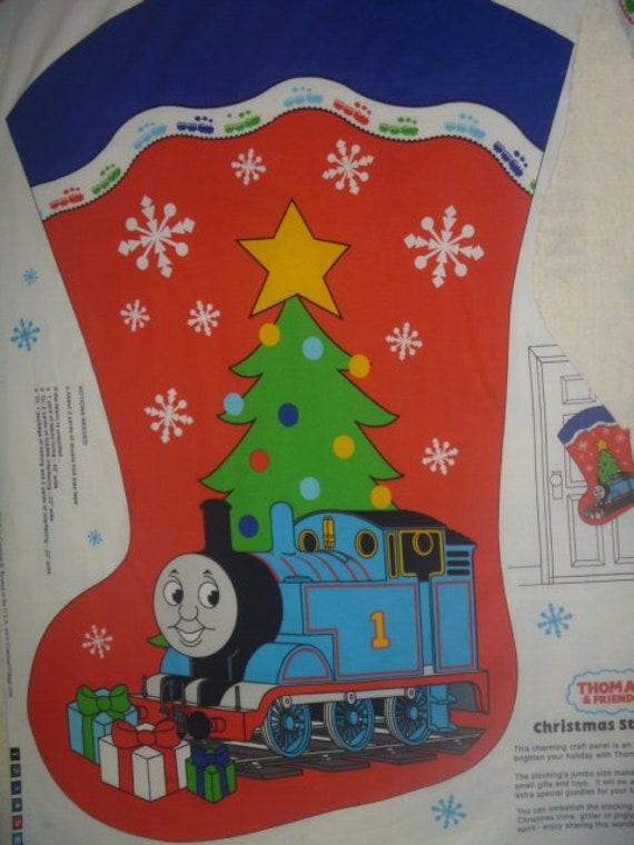 Thomas The Train Christmas Tree.Thomas Train Tank Engine Fabric Panel Christmas Stocking Free Shipping