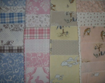 Flannel Squares for Baby Quilt or Rag Quilt 5/8 yd FREE SHIPPING