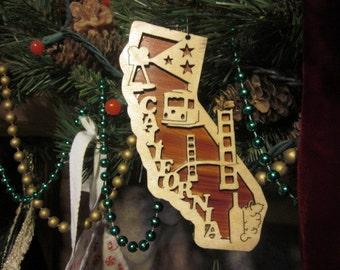 California Ornament \u2022 One of a kind \u2022 State Ornament \u2022 Ocean Christmas