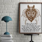 """Native American Decor """"The Wolf You Feed"""""""