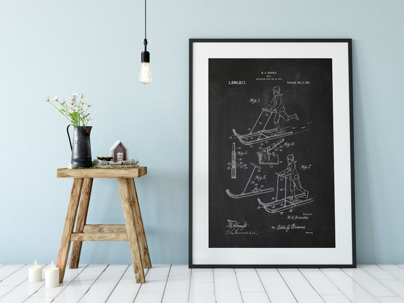 Vintage Sled Patent Reproduction Print or Poster image 0