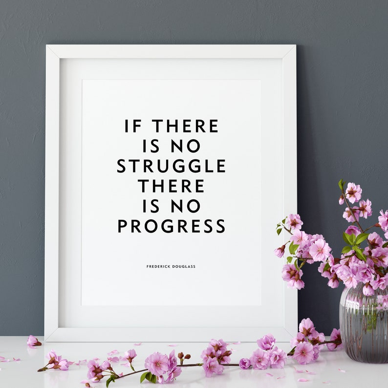 Motivational Quote Poster or Print No Struggle image 0