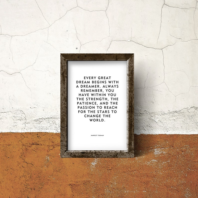 Motivational Quote Poster or Print Every Great image 0