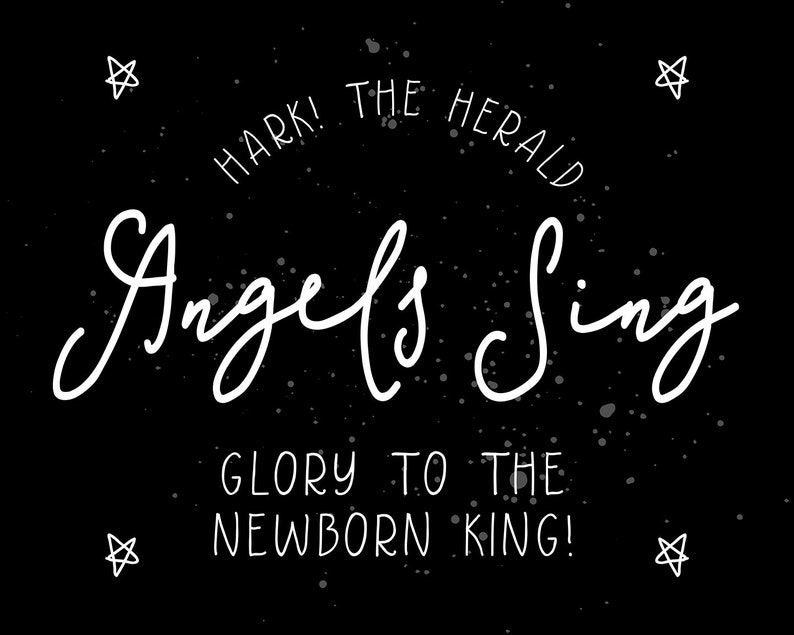 Christmas Print Or Poster Hark The Herald Angels image 0