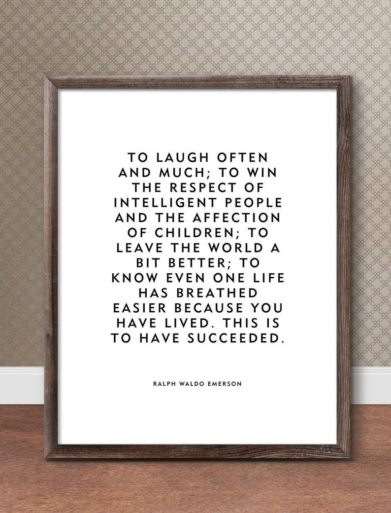 Motivational Home Decor Wall Art Laugh Often Ralph image 0