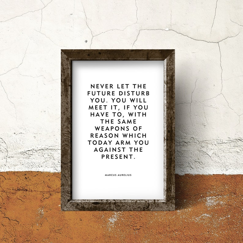 Stoic Wisdom Print or Poster Never let the future image 0