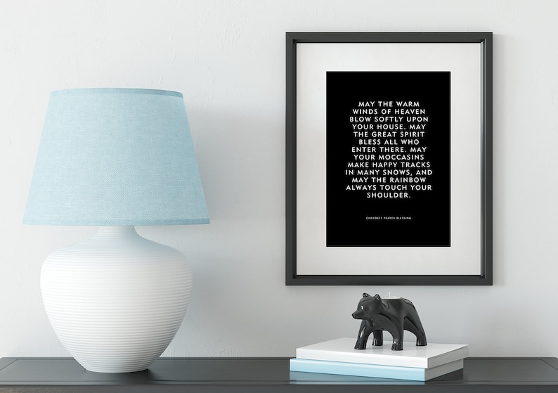 Cherokee Prayer Blessing  Native American Quote Print image 0