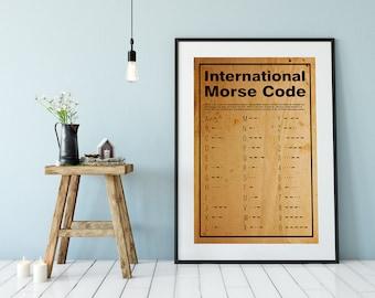 Morse Code Poster Or Print Home Decor Wall Art