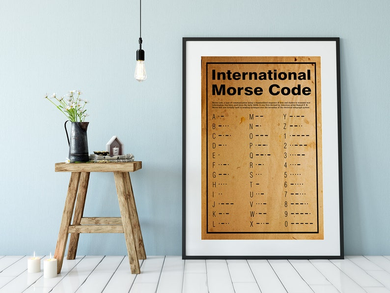 Morse Code Poster Or Print Home Decor Wall Art image 0