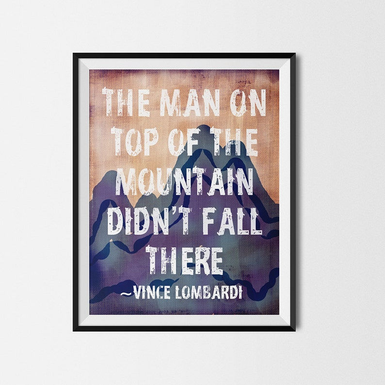 Rustic Outdoor Decor The man on top of the mountain image 0