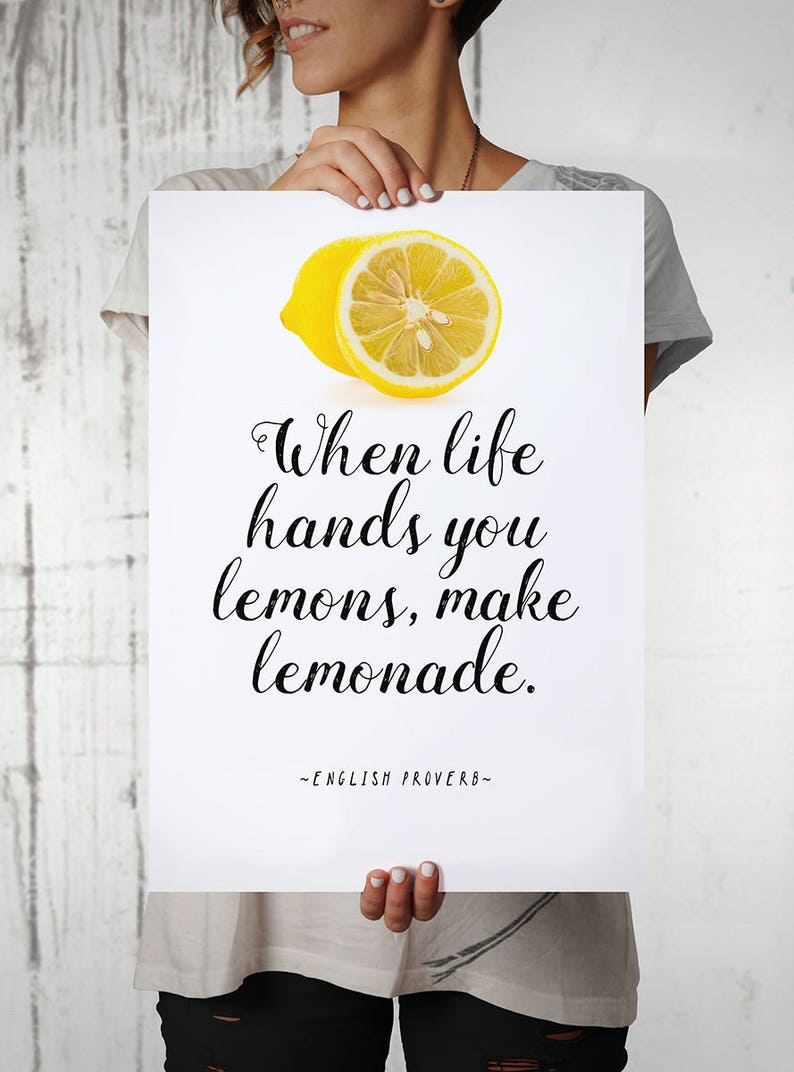 English Proverb Quote Poster When Life Hands You Lemons image 0