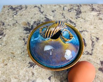 Ceramic egg poacher, cooks an egg in 30 seconds, microwave safe, great for egg lovers,  gift for seniors, mothers day gift, easter gift