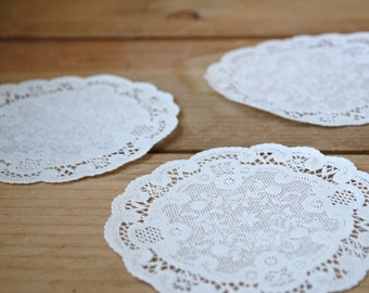 "25 French Paper Doilies (4"")"