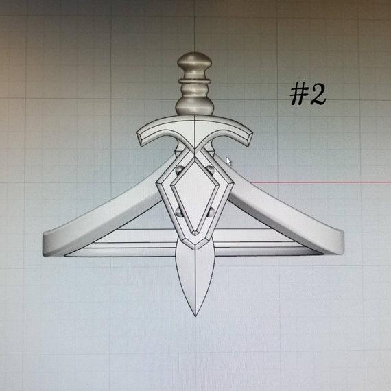 Diamond #2 - Dagger Midi - 14k Rose, Yellow or Palladium White Gold