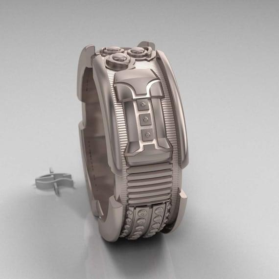 Star Wars Lightsaber Ring Mens Engagement Ring 14k