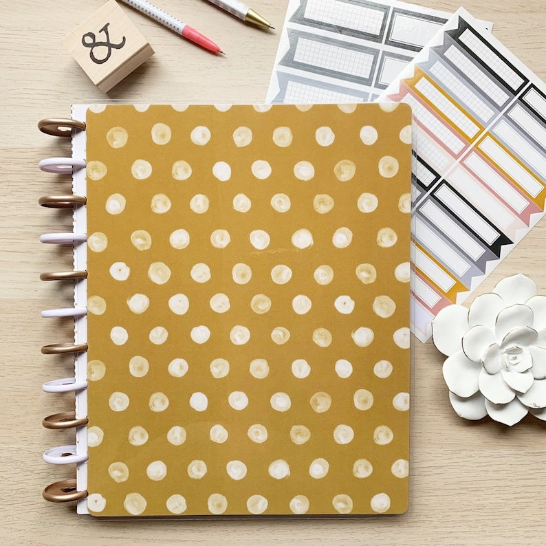 Happy Planner Cover  Disc Bound Planners  Happy Notes image 0