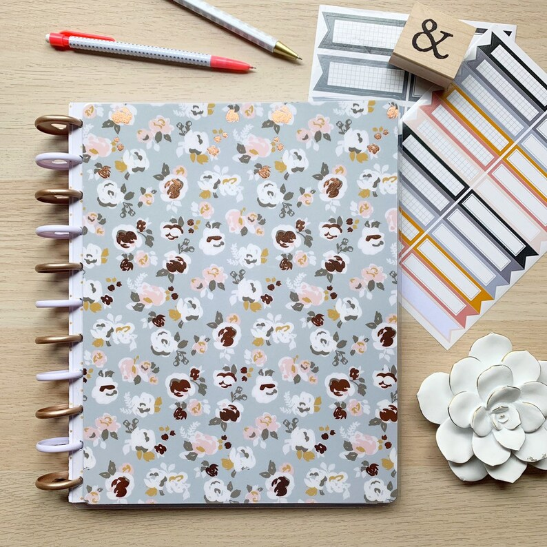 ROSE GOLD FOIL Happy Planner Cover  Disc Bound Planners  image 0