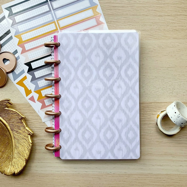 Boho Ikat Happy Planner Cover  Planner Cover for Disc Bound image 0
