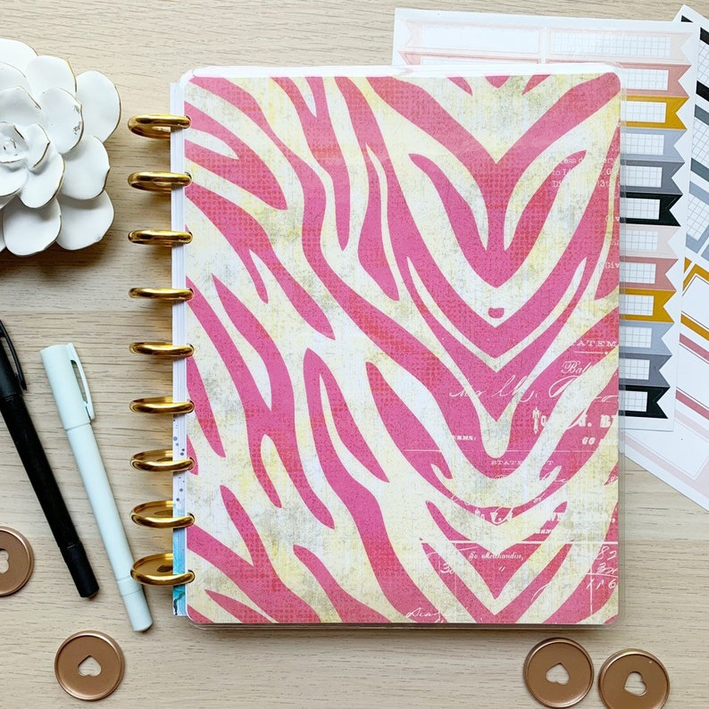 Classic Happy Planner Cover  Disc Bound Cover for planners image 0