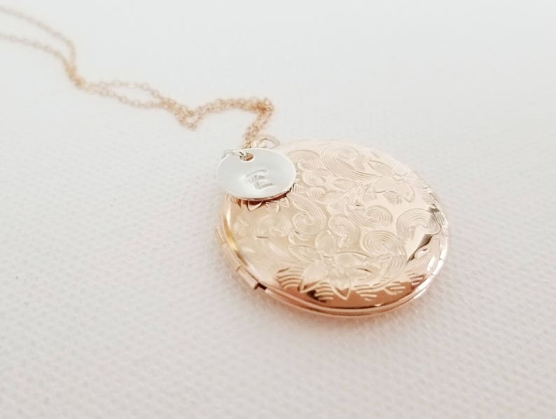 Bridesmaid Locket Necklace Rose Gold Locket Best Friend Gift Rose Gold Wedding Rose Gold or Silver Locket Rose Gold Necklace