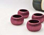 Set of Four Handmade Napkin Rings - Wine - for Dinner Party or Rehearsal Dinner Table Decor
