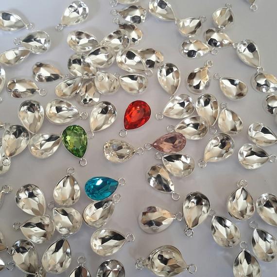 Pendientes De Plata Esterlina Forma Oval hecha con cristales Swarovski ® 4120 14 mm