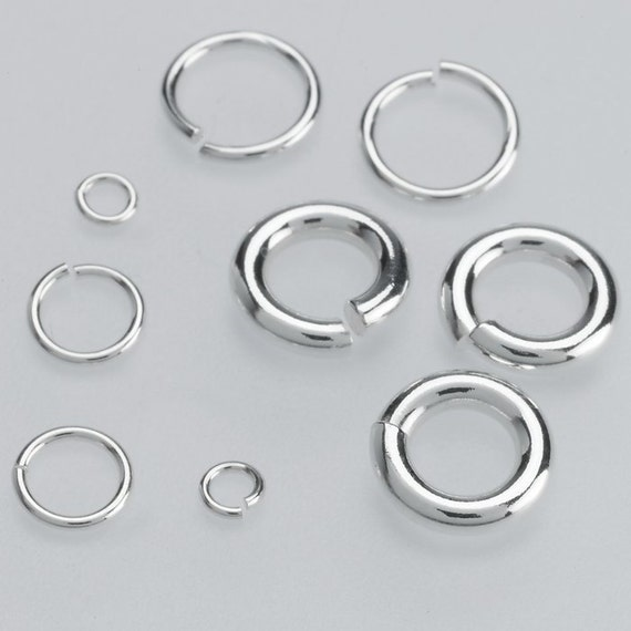 Many Sizes Sterling Silver 925 Open Jump Rings Triangle Connectors Bails