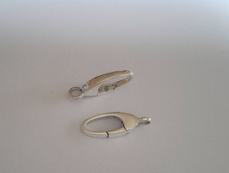 2 Sterling Silver trigerless Lobster Clasp with inbuilt connector closed ring