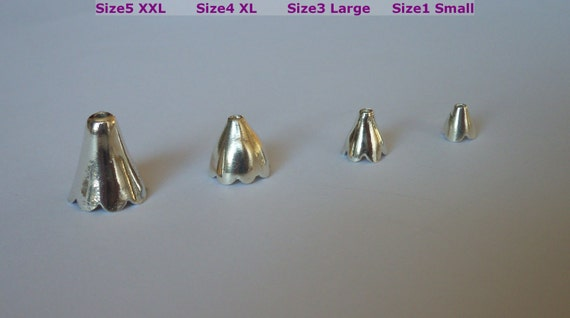 3452 C 30 pièces Raw Brass Flower Bead Cap-Cône 12x10mm