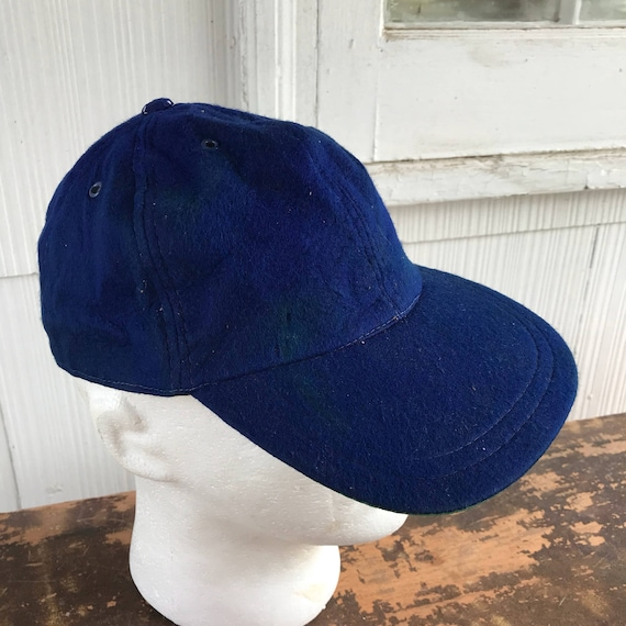 1950s Felt Trucker Baseball Hat Size 7 Blue  c3f118cb3f4