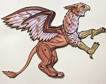 Griffin Articulated Paper Doll - Griffon or Gryphon