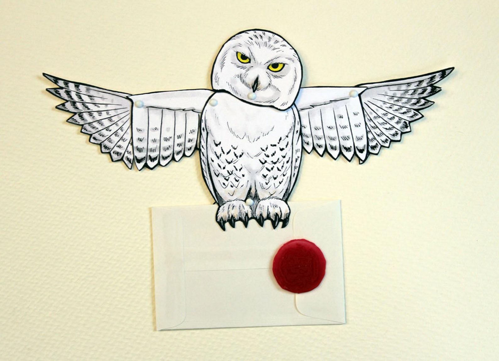 Картинка совы с письмом