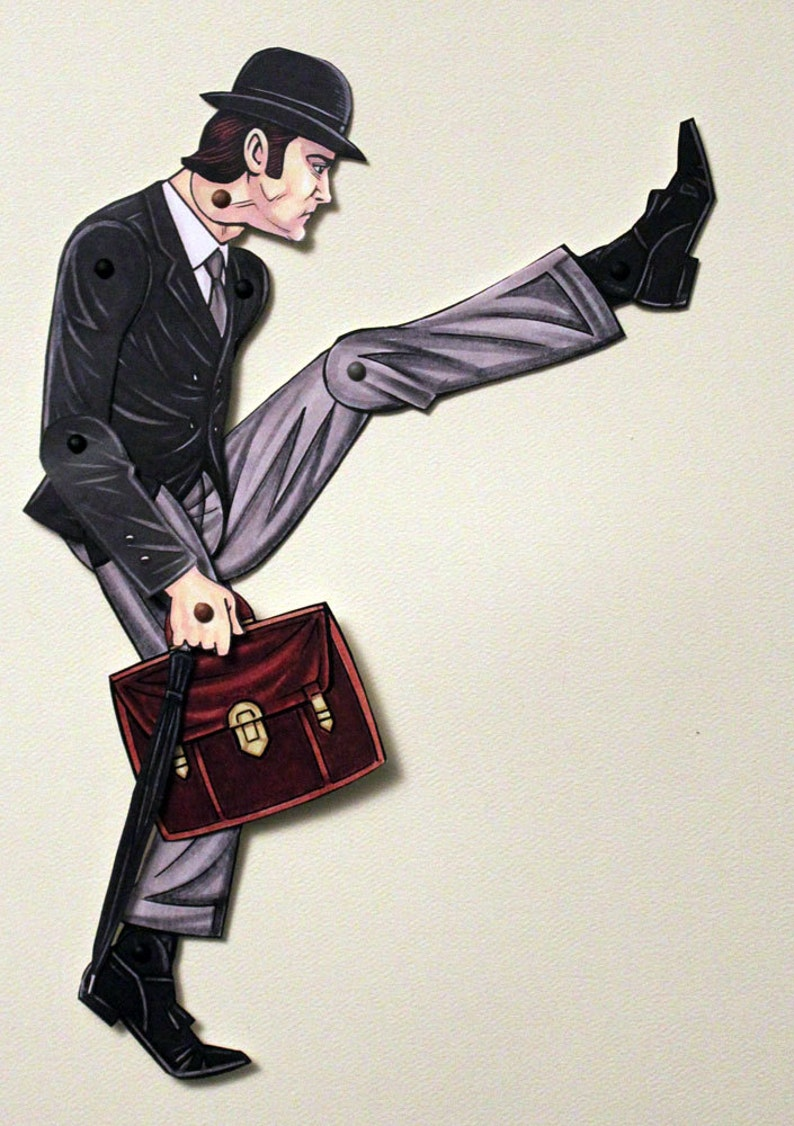 Ministry of Silly Walks John Cleese Articulated Paper Doll  image 0