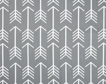 GREY And WHITE ARROW Curtains Designer Window Panels