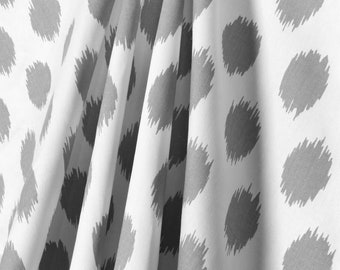 GREY And WHITE IKAT Curtains Last Ones Designer Window Panels