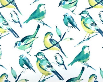 TURQUOISE BIRD CURTAINS Designer Window Panels