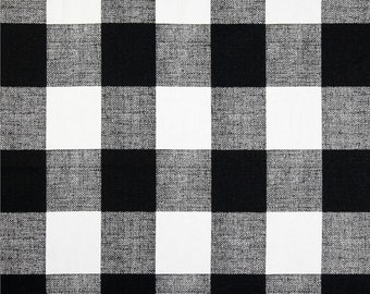 BLACK BUFFALO CHECK Curtains Designer Window Panels Shower Curtain Or Valance Unlined Black And White Buffalo Plaid Farmhouse