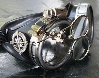 Victorian Steampunk goggles aviator victorian welding biker eye cup--scg