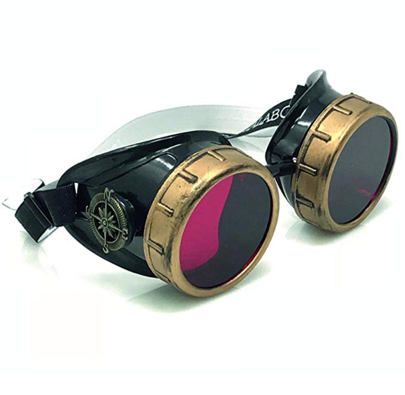 Steampunk goggles victorian aviator goggles rave glasses ...