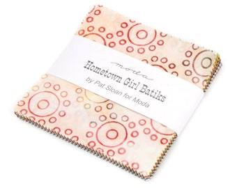Hometown Girl Batiks Charm Pack 5 Inch Squares by Pat Sloan for Moda Fabrics