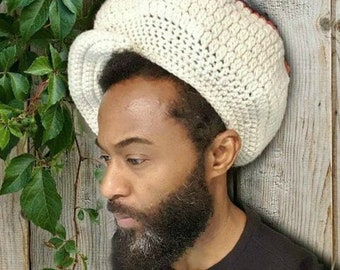 PATTERN ONLY Instant Download Large Crochet Crown/ Newsboy Hat/ Tam with Brim