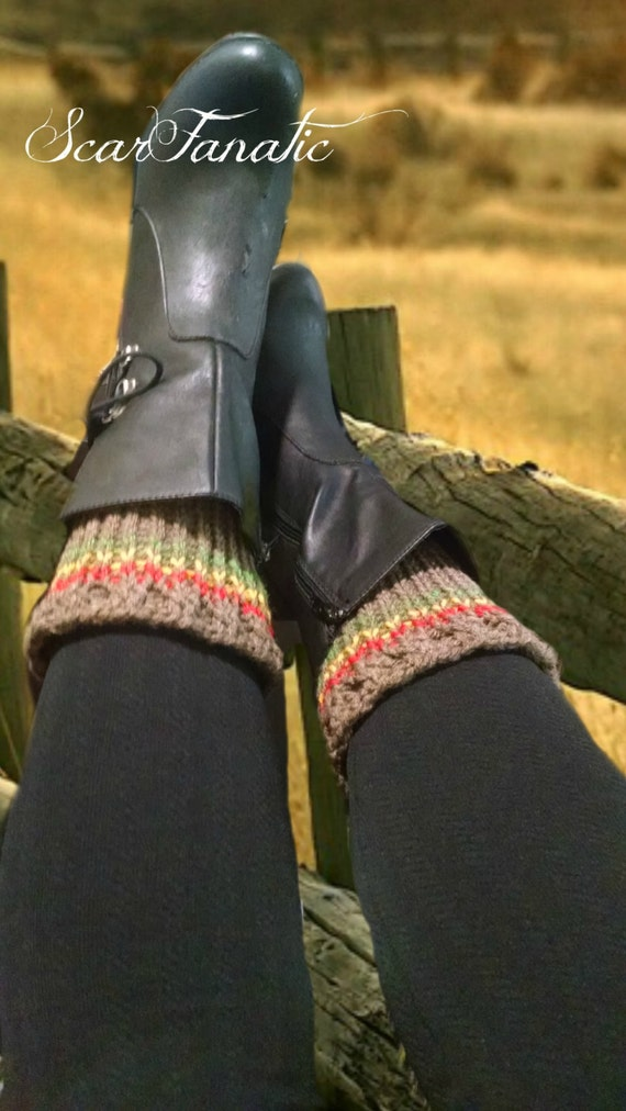 Easy Peasy Loom Knit Boot Cuffs Spats Pattern Instant Etsy