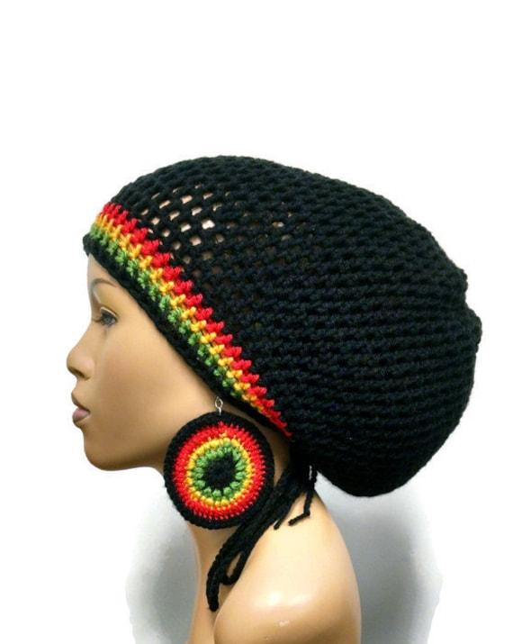 Instant Download Crochet Pattern Adjustable Slouch Hatdreadlock Hat