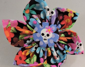 Dog Flower, Dog Bow Tie, Cat Flower, Cat Bow Tie  - Flower Skull