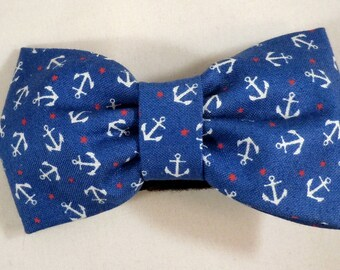 Dog Flower, Dog Bow Tie, Cat Flower, Cat Bow Tie - Tossed Anchors