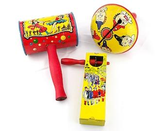 Tin Toys Kirchhof Toys Party Noisemaker Kirchhof Life of the Party 1950s 1940s Vintage Noisemaker Rattle New Years Rattle Novelties